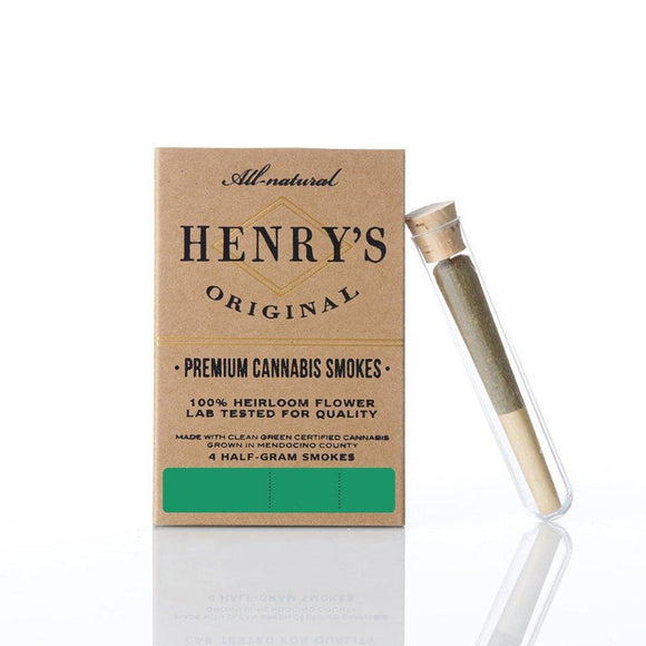 Henry's Smokes (4 .5g Pre-Rolled Joints) - 2 Pack - (Sour Tangie & Mendo Nights)