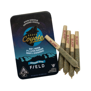 F/eld x Space Coyote Live Resin Infused Preroll Packs