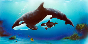 "Orca Whales Painting - ""Orca Harmony"" by Jason Fetko"