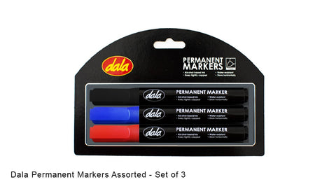 Permanent Marker Set 3pcs