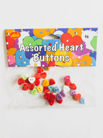 Heart Shaped Buttons - Assorted Colour${variant_titlescreen-shopping.myshopify.com