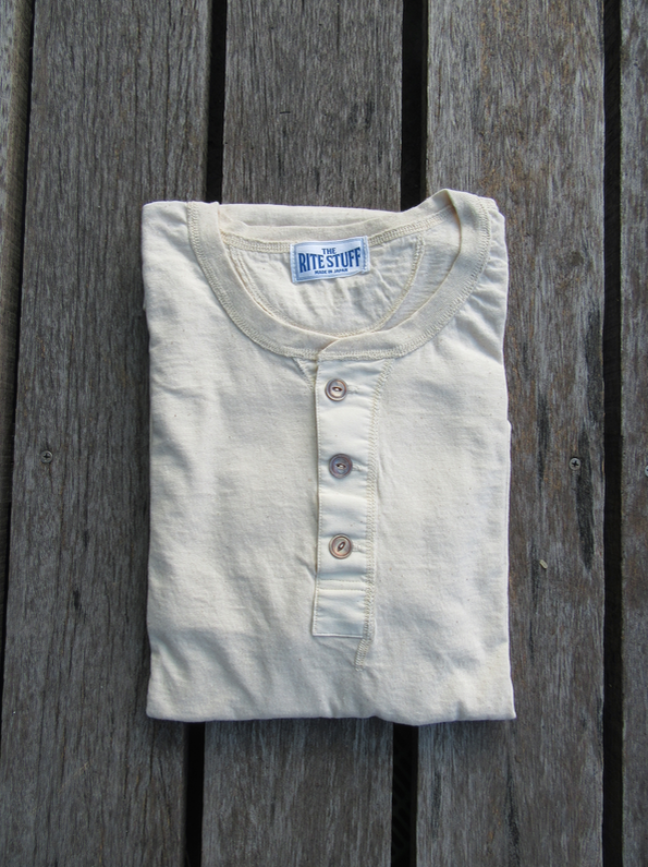 The Rite Stuff 'Harvester' ecru long-sleeve henley sample