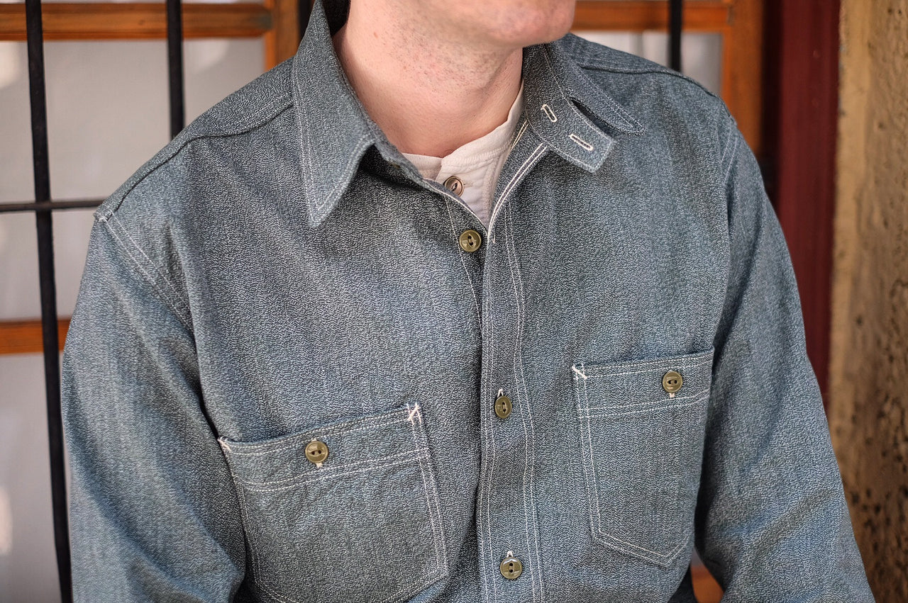 The Atlas shirt. Salt and pepper chambray shirt