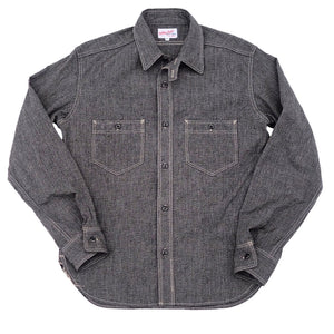 The Rite Stuff - Atlas Salt & Pepper Work Shirt (Charcoal)