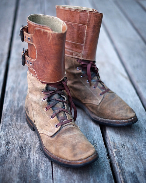 {Vintage} - US Army M43 Roughout Buckle Boots, sz. 6B (late 1940s)
