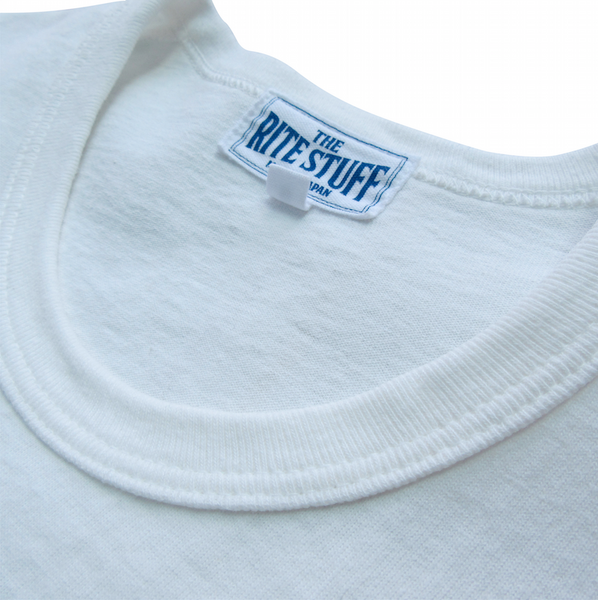 [The Rite Stuff] Loopwheel Pocket T-Shirt (White)