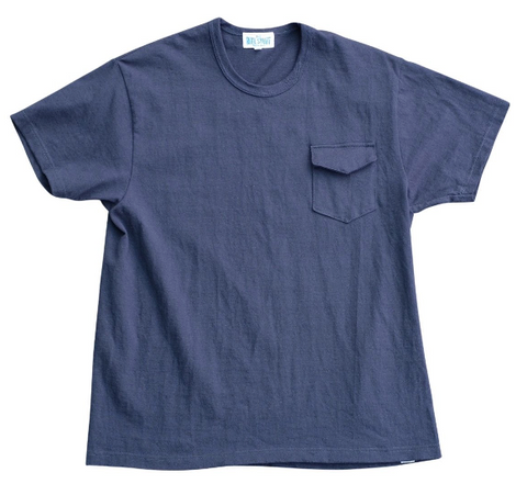 [The Rite Stuff] Loopwheel Pocket T-Shirt (Navy Blue)