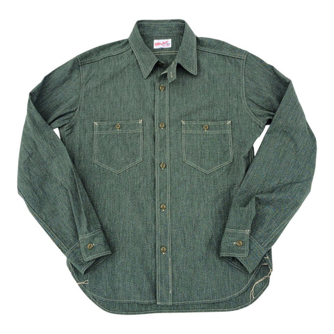 [The Rite Stuff] Atlas Salt & Pepper Work Shirt (Sage)