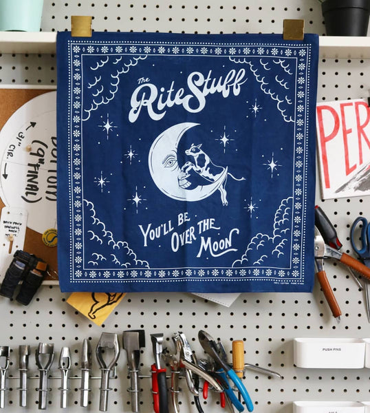 [The Rite Stuff] Indigo Hand-dyed Bandana