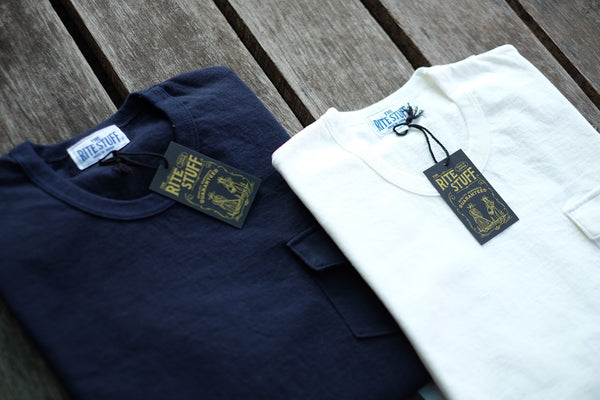 The Rite Stuff - Loopwheel Pocket T-Shirt (Navy Blue)