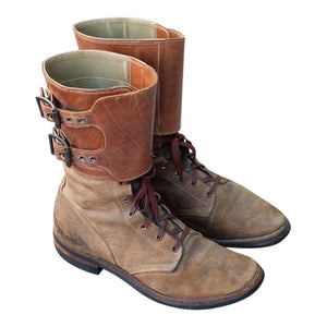 {Vintage} - US Army M43 Roughout Buckle Boots, sz. 6B, c. late 1940s