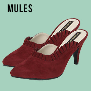 Mules, Footwear, Women's Footwear, Online Shopping, Uptownie