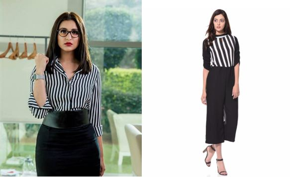 Parineeti Chopra Instagram Sandeep Aur Pinky Faraar stripes jumpsuit
