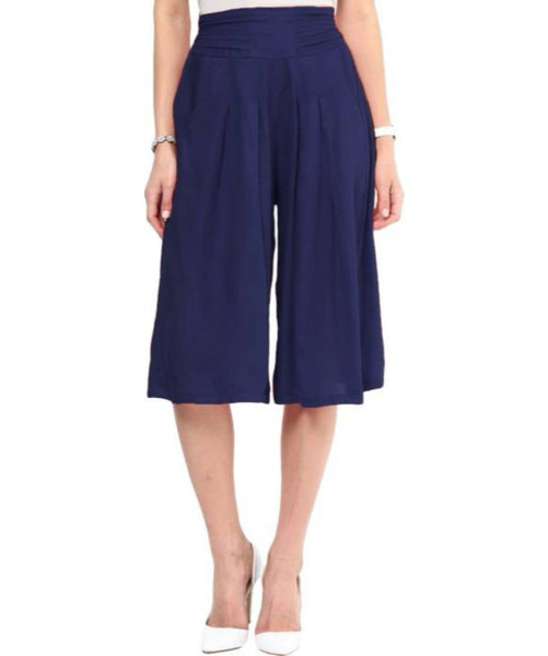 Uptownie Navy Blue Rayon Adjustable Culottes 1 clearance sale