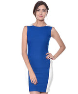 Solid Blue Bodycon Dress - Uptownie,BUY2GET1