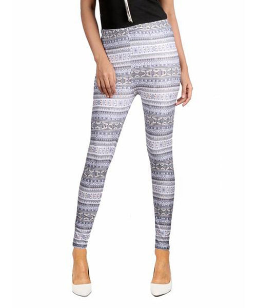 Grey Aztec Leggings - Uptownie