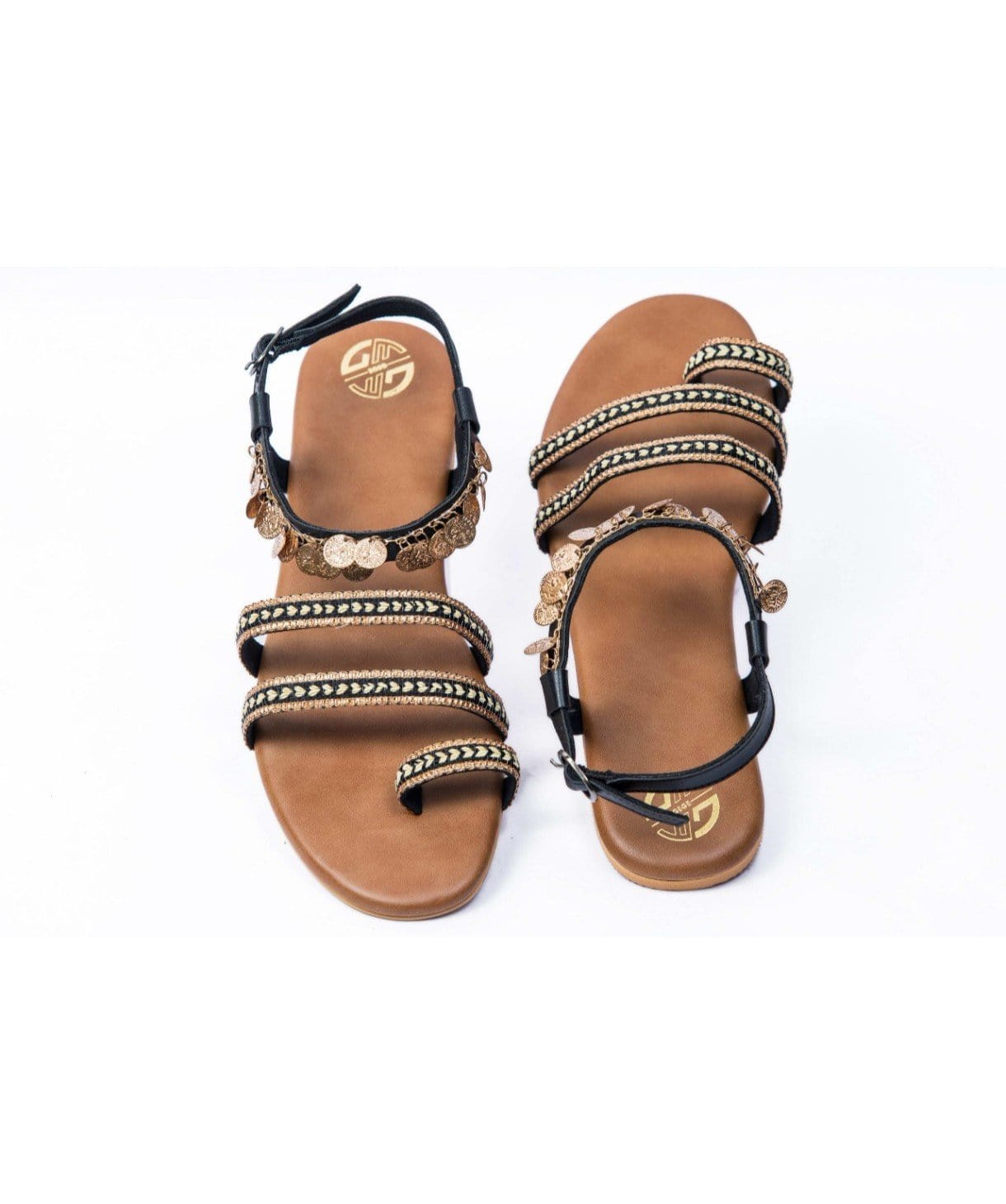 Boho Black Sandals - Uptownie