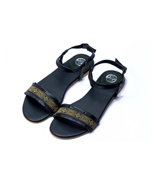 Lacey Green Sandals - Uptownie