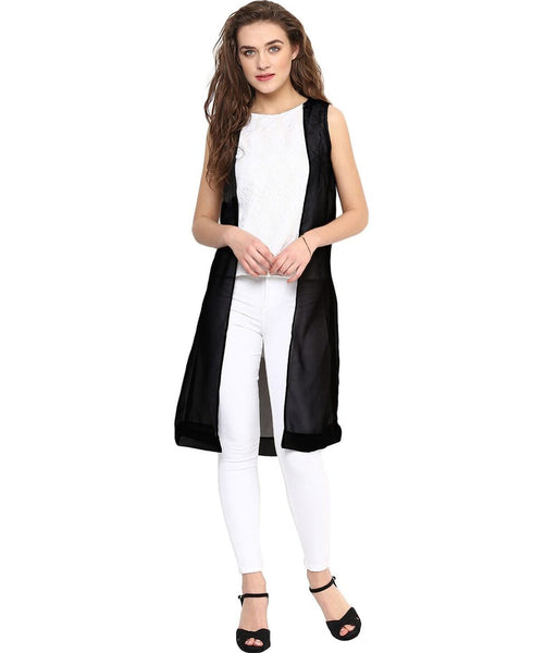 Solid Black & White Tunic - Uptownie