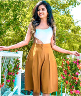 Brown Adjustable Culottes