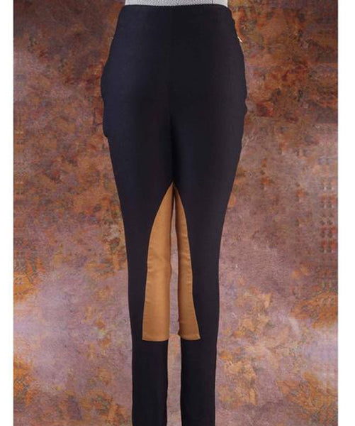 Uptownie X Pearl-Solid Black Suede Leggings 1 trendsale