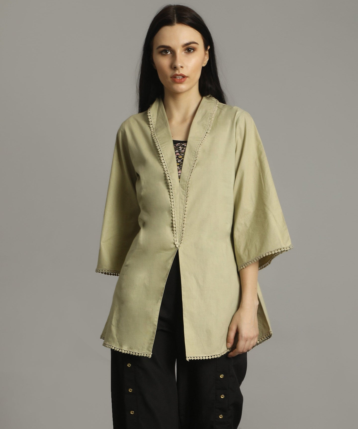 Uptownie Plus Beige Bell Sleeves Tunic. FLAT 200 OFF