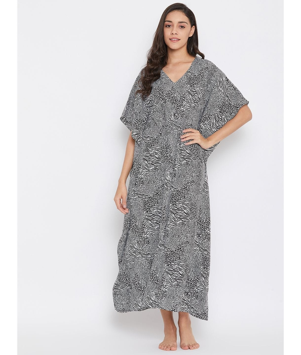 Comfortable Animal Print Kaftan Which Doubles Up As A Nightie
