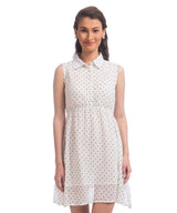 Printed White Shirt Dress - Uptownie