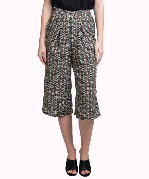 Uptownie Grey Printed Adjustable Culottes 1 trendsale
