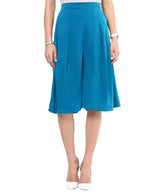 Turquoise Blue Adjustable Culottes - Uptownie