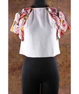 Solid Floral Boxy Top