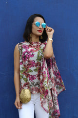 Printed Pink Sleeveless Cape. BUY 1 GET 3