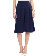 Uptownie Navy Blue Knee Culottes 2 Sale at 399