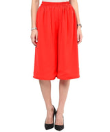 Red Georgette Adjustable Culottes - Uptownie