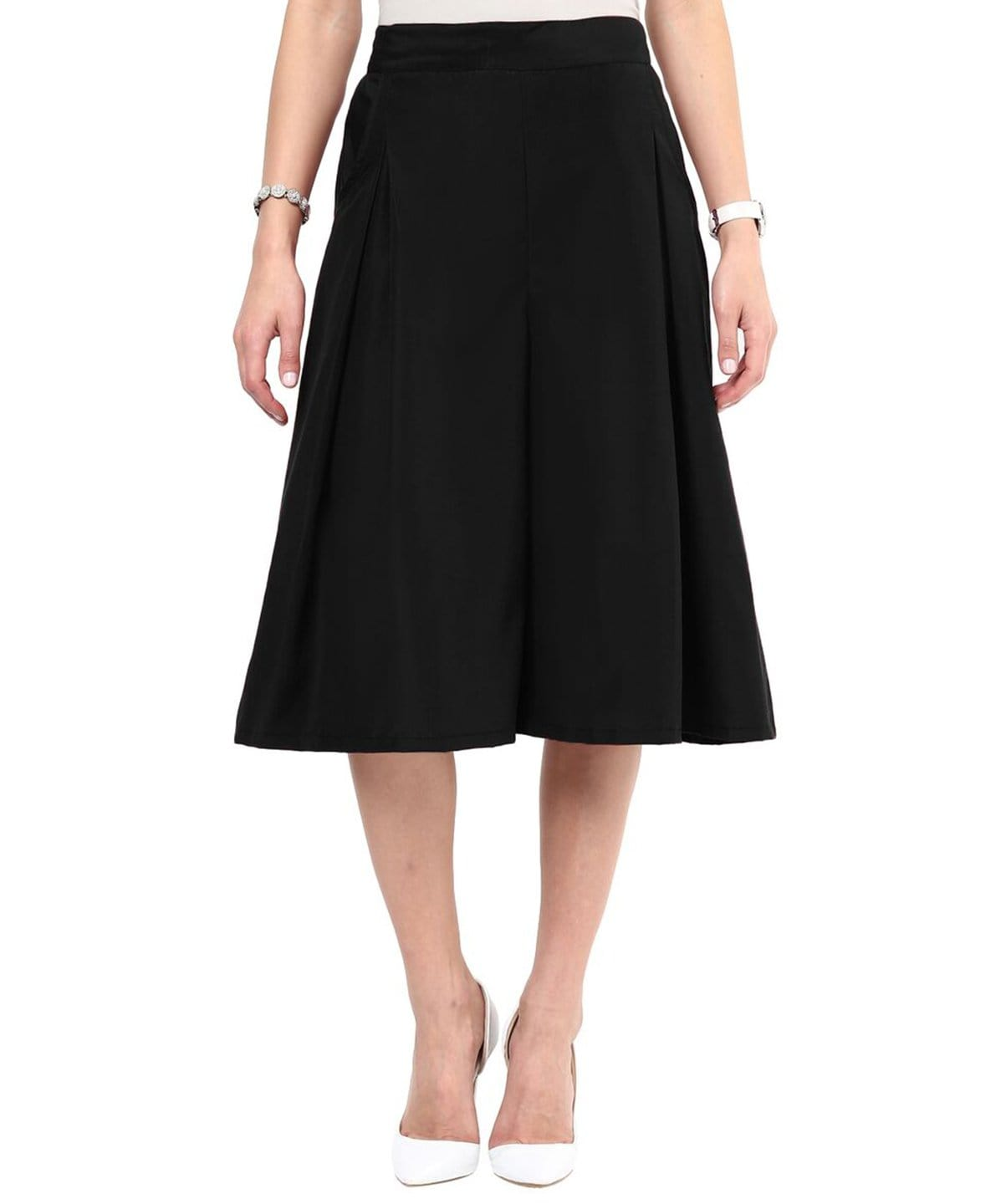 Uptownie Black Box Pleat Culottes 1 summer sale