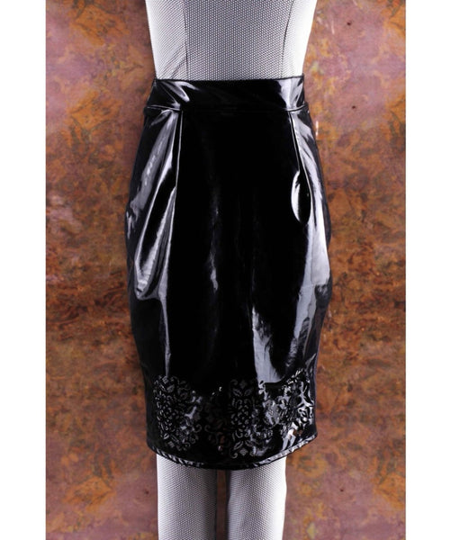 Solid Black Metallic Skirt