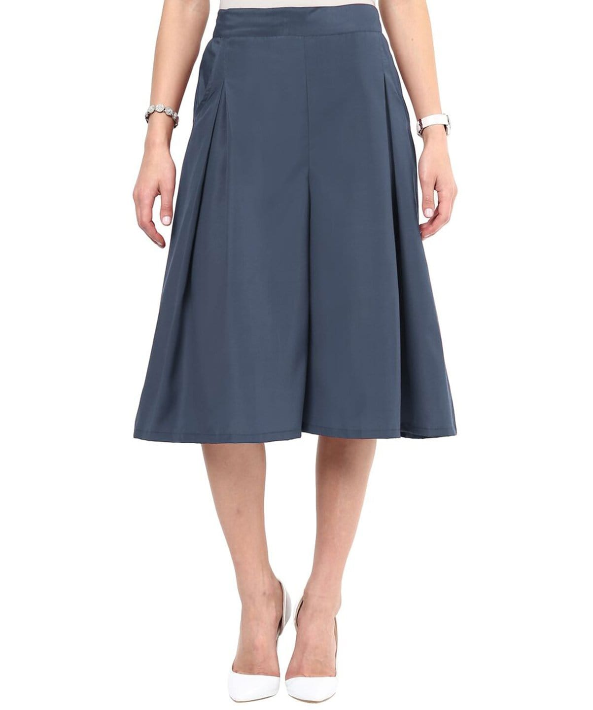 Uptownie Grey Box Pleat Adjustable Culottes 1 trendsale