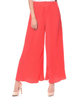 Uptownie Plus Coral Pleated Crepe Palazzo 2 clearance sale