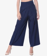 Uptownie Plus Navy Blue Solid Palazzo 1 clearance sale