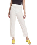 Uptownie Plus  Off-White Chikon Straight Pants 2 clearance sale