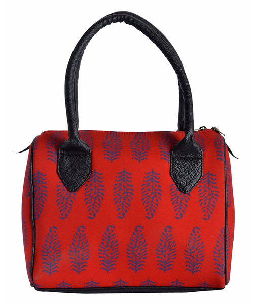Uptownie X Azzra Red Printed Duffle Handbag - Uptownie