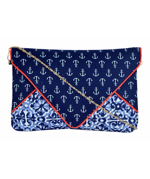 Uptownie X Azzra Blue Sailor Printed Sling - Uptownie