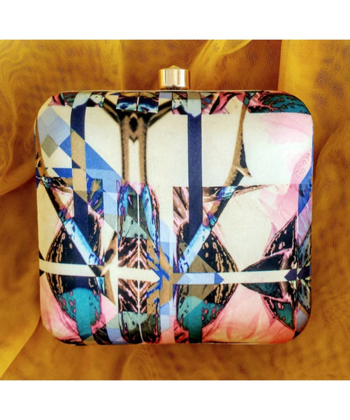 Abstract Amaze Box Clutch