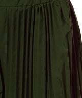 Uptownie Army Green Pleated Crepe Palazzo 7 summer sale
