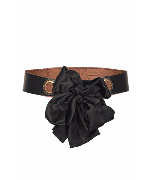 Black Bow Tie Belt - Uptownie