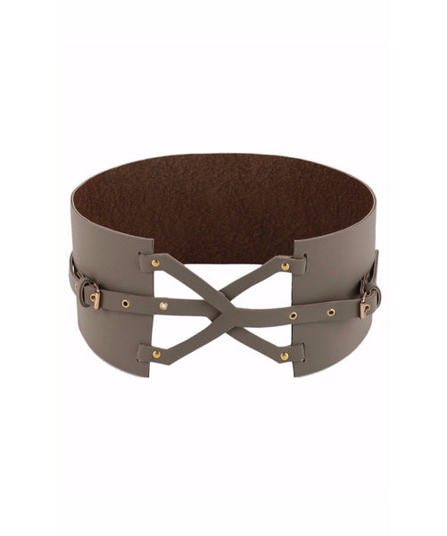 Grey Cross Over Belt - Uptownie
