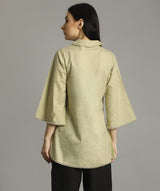 Uptownie Beige Bell Sleeves Tunic 3 trendsale