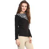 Uptownie Black Full Sleeves Georgette Top 3 Sale at 399