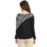 Uptownie Black Full Sleeves Georgette Top 4 Sale at 399