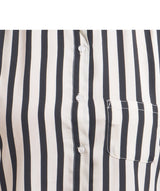Uptownie Black & White Striped Crepe Shirt 5 summer sale